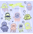 Cute baby jellyfish eps10 vector