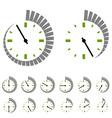 Round timer symbols vector