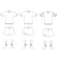 Soccer player uniform vector