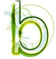 Green letter b vector