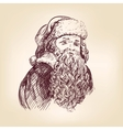 Santa claus hand drawn llustration vector