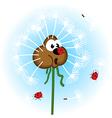 Dandelion and ladybug vector