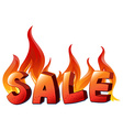 A sale artwork vector