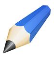 Wooden blue pencil vector