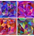 Set of abstract triangle backgrounds vector