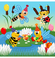 Birthday insects vector