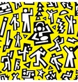 Dancing people - seamless background vector