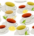 Cups of tea vector