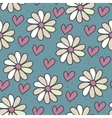 Seamless pattern with daisies vector