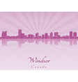 Windsor skyline in radiant orchid vector