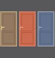 Flat design vintage doors collection vector