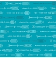 Seamless abstract pattern with stylized arrows vector