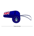 A blue whistle of tristan da cunha vector