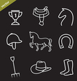 Set of horse equipment icons vector