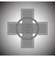 Celtic cross on a gray background vector