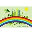 Environmental conservation cities green city vector