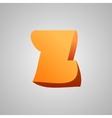 Letter z comic style font eps10 vector