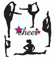 Cheerleader silhouette set vector