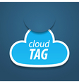 Abstract attach cloud vector