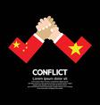 China vs vietnam arm-wrestle vector