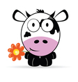 Sweet and cute cow vector