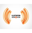 Abstract white and orange background vector