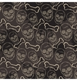 Seamless skull pattern with bone vector