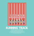Top view running track vector