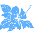 Hibiscus flower silhouette vector