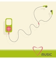 Green music player vector