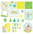 Design elements - birthday baby bear vector