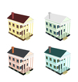 Isometric house style 10 vector