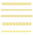 Gold chain vector