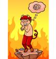 Cartoon devil vector