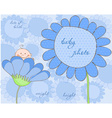 Baby boy arrival frame for photo vector