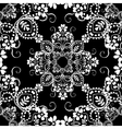 Classic decorative seamless black-and-white vector