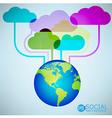 Template design cloud and globe idea vector