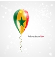Flag of senegal on balloon vector