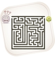 Monster maze vector