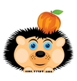 Hedgehog carries apple vector