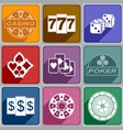 Icons casino vector