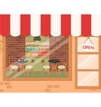 Coffee shop background vector