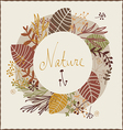 Floral autumn design vector
