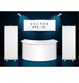 Reception exhibition counter vector