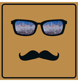 Abstract hipster background with mustaches and vector