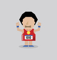 Marathon man vector
