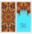 Decorative label card for vintage design ethnic vector