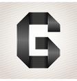 Letter metal ribbon - g vector