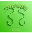 Eco footprint background eps10 vector