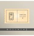 Simple stylish pixel icon phone design vector